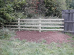 Wooden Bench and fencing installation