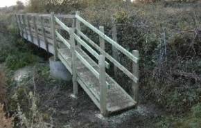 Bridge with handrails