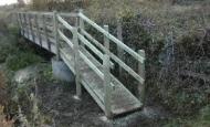 Bridge with handrails