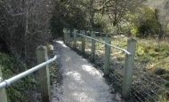 Footpath and handrail