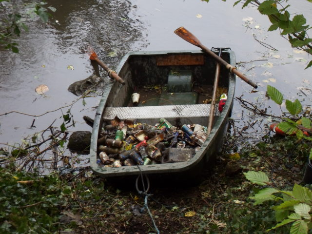 The boat is ideal for clearing ponds of litter
